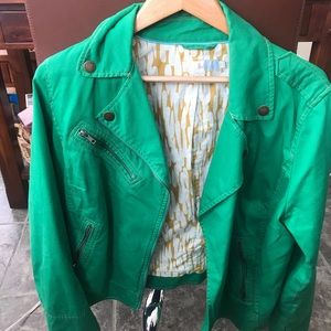 Boden green motorcycle jacket